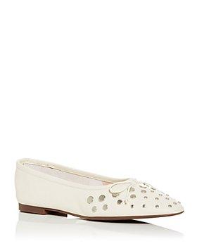 SCHUTZ - Women's Perla Stud Embellished Square Toe Flats