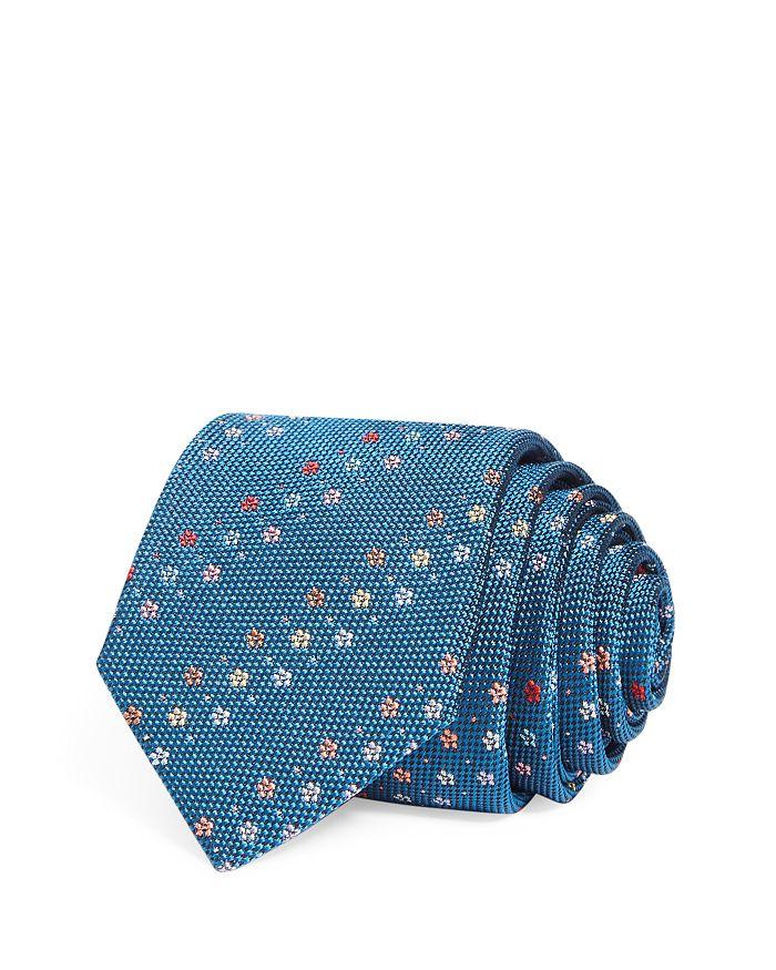 Paul Smith - Floral Stripe Silk Skinny Tie