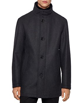 BOSS - Coxtan Virgin Wool-Cashmere Coat With Bib