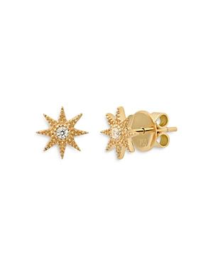 18K Yellow Gold Galaxia Diamond Twinkle Stud Earrings