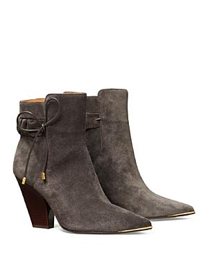 Tory Burch Boots WOMEN'S LILA 90 SCRUNCH HIGH HEEL BOOTIES