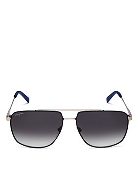 Salvatore Ferragamo - Men's Brow Bar Aviator Sunglasses, 60mm