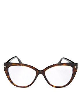 Tom Ford - Women's Cat Eye Clear Glasses, 54m