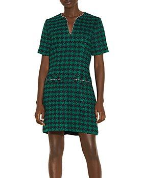 Sandro - Clyo Tweed Shift Dress
