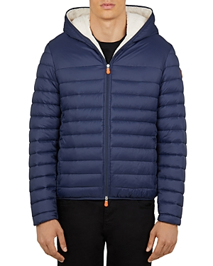 Save The Duck Hooded Sherpa-Lined Jacket-Men