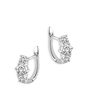 Bloomingdale's - Diamond Huggie Hoop Earrings in 14K White Gold, 1.0 ct. t.w. - 100% Exclusive