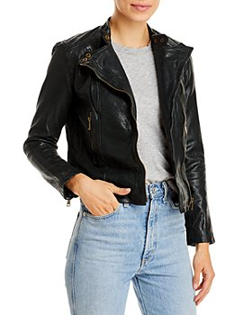 Ralph Lauren - Tumbled Leather Moto Jacket