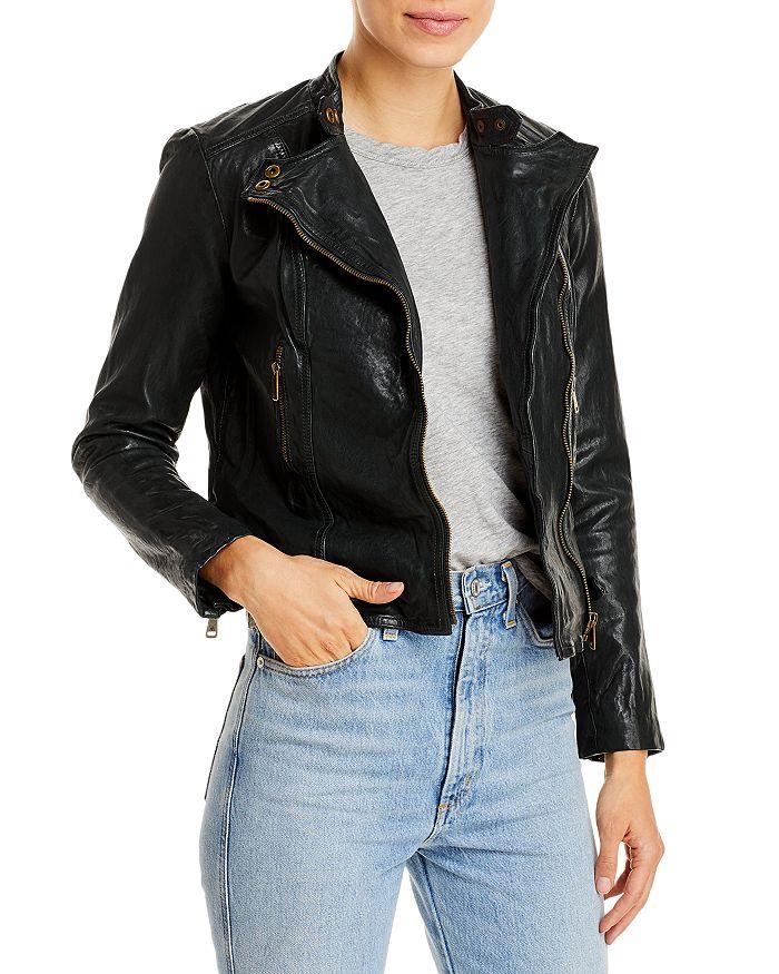 Ralph Lauren - Tumbled Leather Moto Jacket