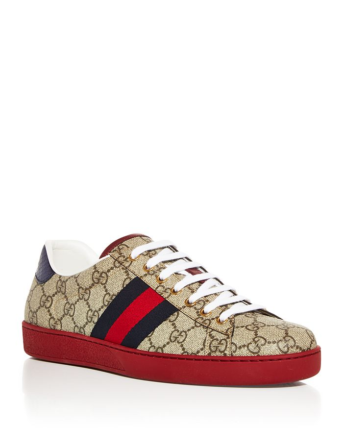 Gucci - Men's Monogram Low Top Sneakers