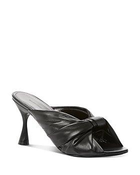Balenciaga - Women's Drapy High Heel Slide Sandals