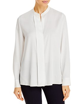Vince - Slim Band Collar Blouse
