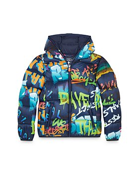 Save The Duck - Boys' Hooded Graffiti Jacket - Little Kid, Big Kid