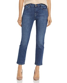 FRAME - Le High Rise Straight Leg Ankle Jeans in Bestia
