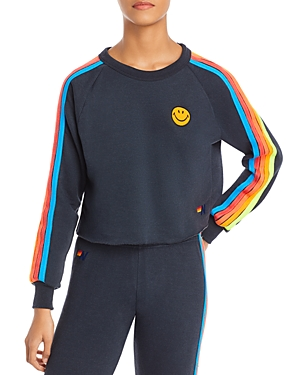 Aviator Nation Smiley Embroidered Sweatshirt - 100% Exclusive