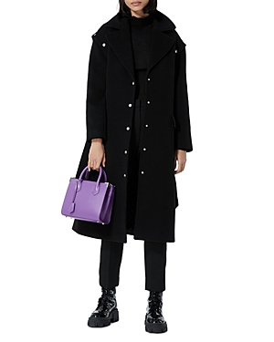 The Kooples STUDDED REMOVABLE SLEEVE COAT