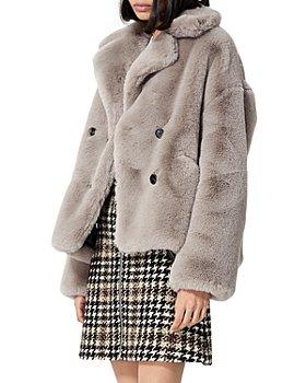 The Kooples - Cropped Faux Fur Coat