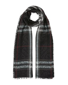 Burberry - Metallic Monogram Lightweight Check Wool-Silk Scarf