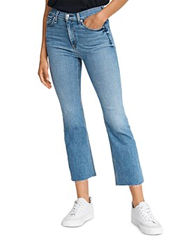 rag & bone - Hana Cropped Flared Jeans in Levee