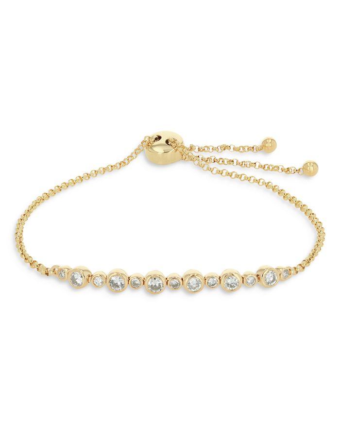 Bloomingdale's Diamond Bezel Bolo Bracelet in 14K Yellow Gold, 0.56 ct. t.w. - 100% Exclusive  | Bloomingdale's
