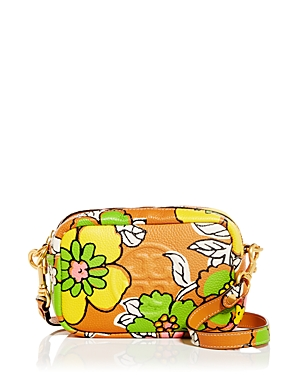 Tory Burch Perry Bombe Floral Leather Crossbody-Handbags