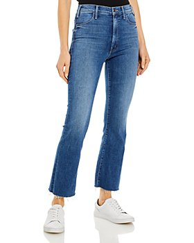 MOTHER - The Hustler Frayed Flare Leg Ankle Jeans in Satisfaction, Guaranteed