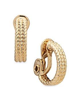 Ralph Lauren - Rope Detailed Clip On Hoop Earrings