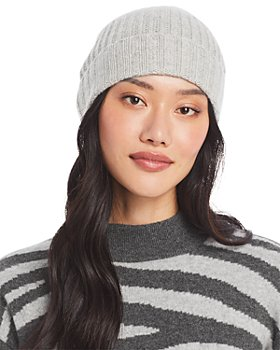 C by Bloomingdale's - Ribbed Knit Cuff Cashmere Hat - 100% Exclusive