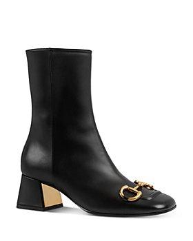 Gucci - Women's Baby Mid-Heel Horsebit Ankle Booties