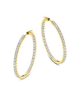 Bloomingdale's - Diamond Inside-Out Hoop Earrings in 14K Yellow Gold, 2.90 ct. t.w. - 100% Exclusive