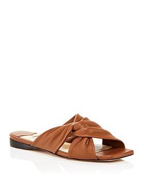 Jimmy Choo - Women's Narisa Square Toe Flat Sandals