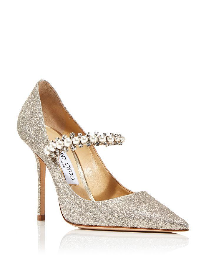 Jimmy Choo - Women's Baily 100 High Heel Embellished Glitter Pumps