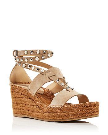 Jimmy Choo - Women's Danica 80 Embellished Wedge Platform Espadrille Sandals