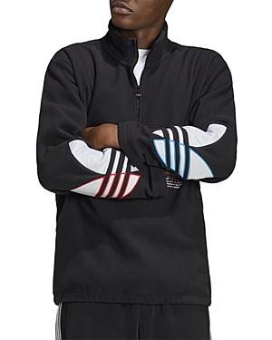 Adidas Originals Sweatshirts ADICOLOR TRICOLOR POLAR FLEECE HALF-ZIP SWEATSHIRT