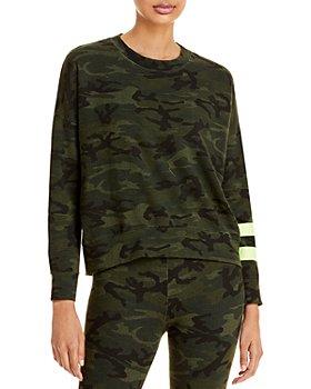 Sundry - Striped Camo Print Sweatshirt