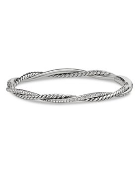 David Yurman - Sterling Silver Petite Infinity Bracelet with Diamonds