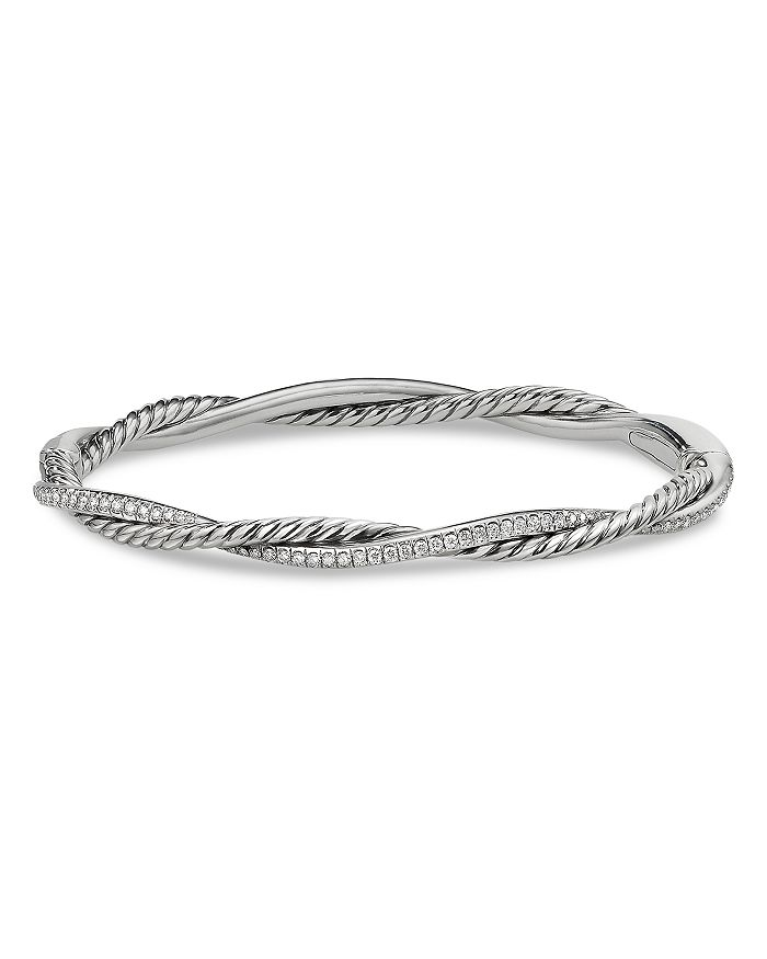 David Yurman - Sterling Silver Petite Infinity Bracelet with Diamonds
