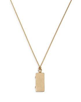 "ALLSAINTS - Mirror Locket Pendant Necklace, 30"""