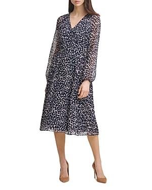 Dot Print Chiffon Dress