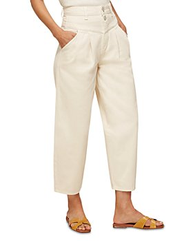 Whistles - India Pleated Cropped Jeans