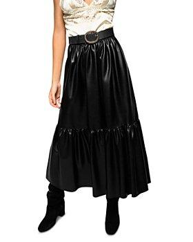 PINKO - Asterismo 1 Faux Leather Maxi Skirt