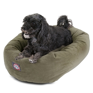Majestic Pet Faux Suede Bagel Dog Bed, Small
