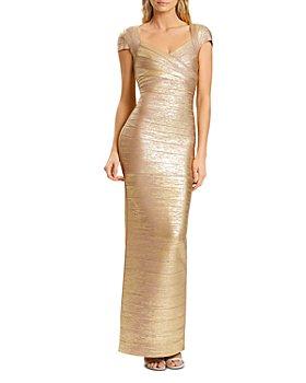 Hervé Léger - Banded Shimmer Gown