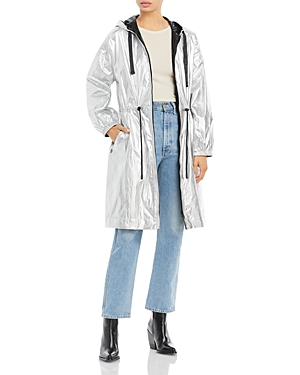 Maxima Hooded Reversible Metallic Coat