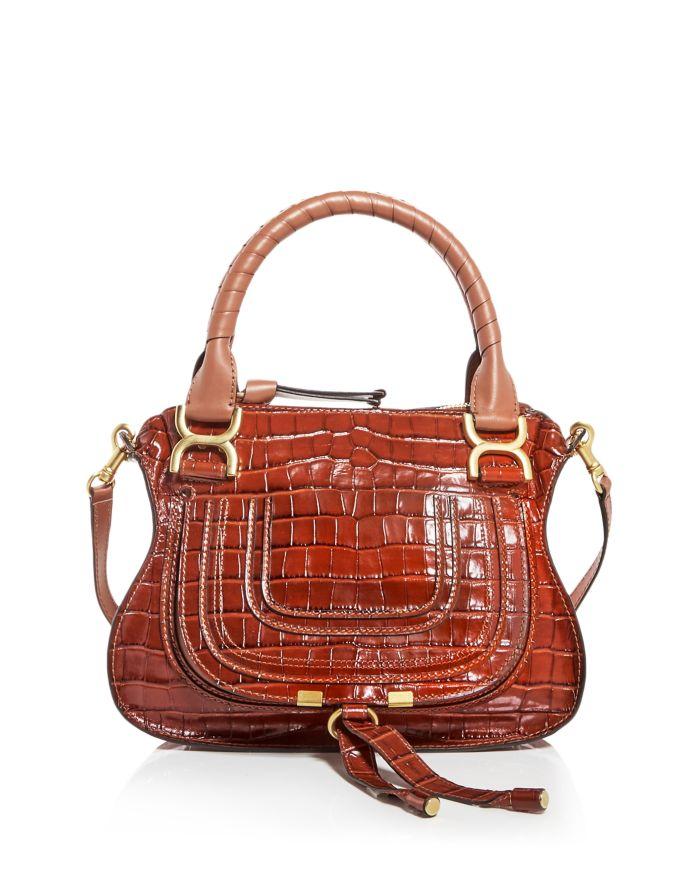 Chloé Marcie Croc-Embossed Leather Satchel  | Bloomingdale's