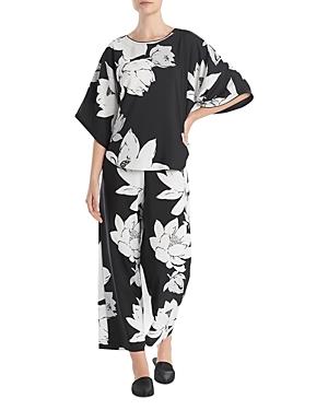 Natori Pajamas FLORAL PRINT SATIN PAJAMA SET