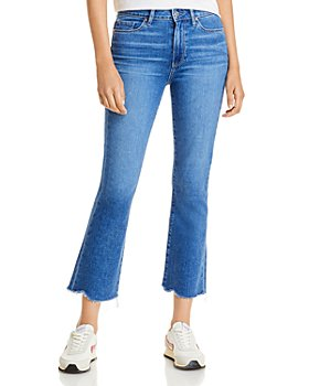PAIGE - Colette Cropped Flared Jeans in Bay - 100% Exclusive