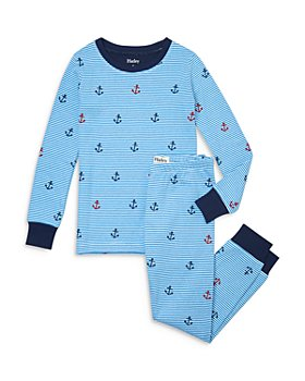 Hatley - Boys' Organic Cotton Anchors Away Printed Pajama Set - Little Kid, Big Kid