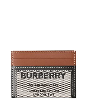 Burberry - Vintage Check and Leather Card Case