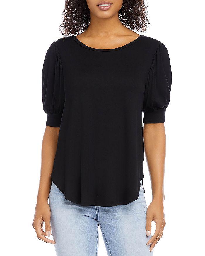 Karen Kane - Shirred Sleeve Shirttail Top