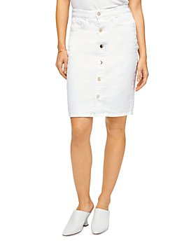 7 For All Mankind - Button Front Denim Pencil Skirt